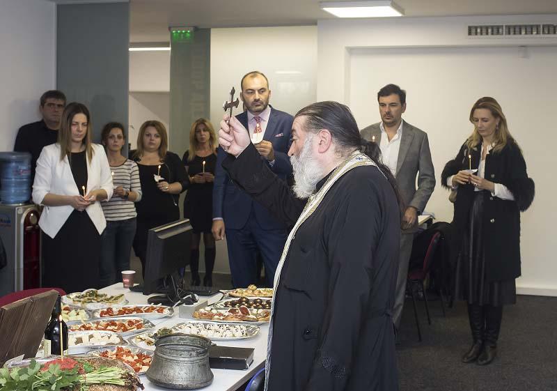 Освещаване на новия офис на бул. Гешов 100
