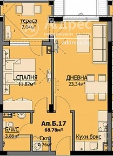 Двустаен апартамент, Бургас, Сарафово, 467176, Снимка 1