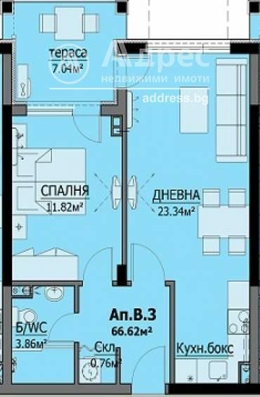 Двустаен апартамент, Бургас, Сарафово, 467245, Снимка 1