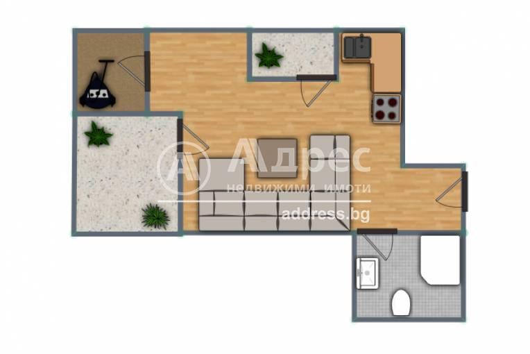 Едностаен апартамент, Русе, Здравец изток, 488299, Снимка 2