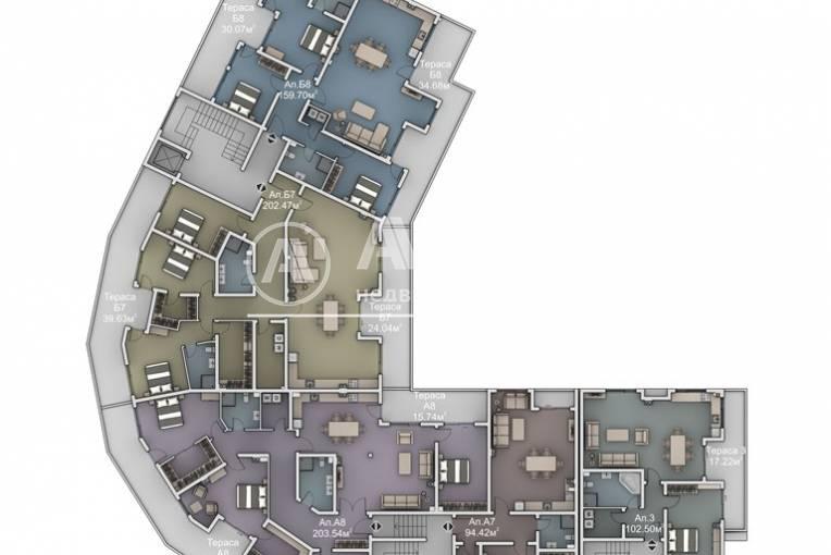 Многостаен апартамент, Варна, Бриз, 446408, Снимка 3