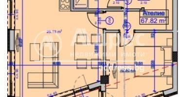 Двустаен апартамент, Бургас, Славейков, 523471, Снимка 1