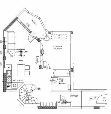 Двустаен апартамент, Варна, Бриз, 240558, Снимка 2