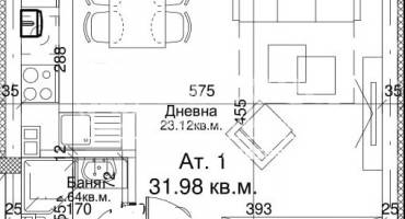 Едностаен апартамент, София, Павлово, 483568, Снимка 3
