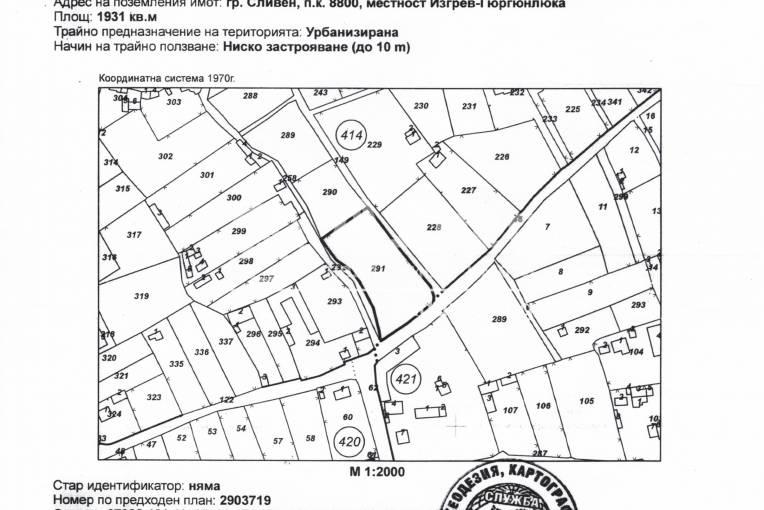 Парцел/Терен, Сливен, Вилна зона, 184635, Снимка 3