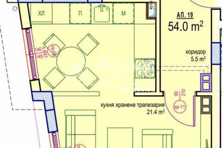 Двустаен апартамент, Бургас, Изгрев, 487639, Снимка 1