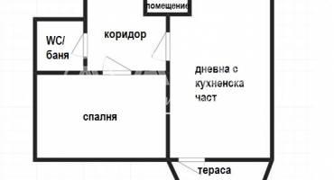 Двустаен апартамент, Велико Търново, Бузлуджа, 515646, Снимка 1