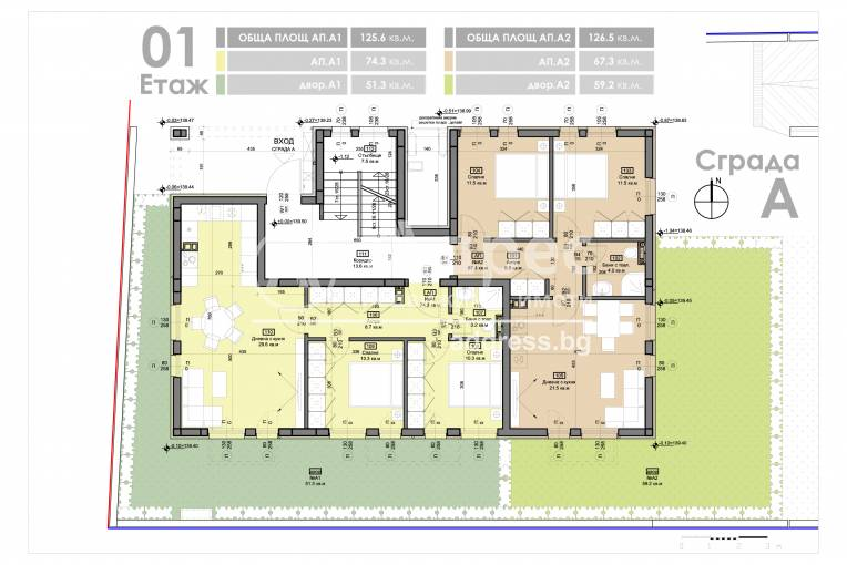 Тристаен апартамент, Варна, Бриз, 460719, Снимка 3