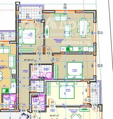 Тристаен апартамент, Варна, 512844, Снимка 1