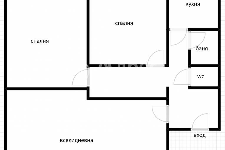 Тристаен апартамент, София, Център, 439909, Снимка 4