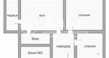 Тристаен апартамент, Хасково, Дружба 1, 461983, Снимка 1