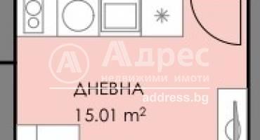 Едностаен апартамент, Бургас, Славейков, 508989, Снимка 1