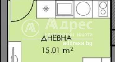 Едностаен апартамент, Бургас, Славейков, 508990, Снимка 1