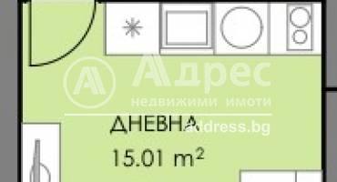 Едностаен апартамент, Бургас, Славейков, 508994, Снимка 1